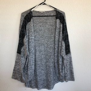 ❤️ Rolla Coster USA gray cardigan large